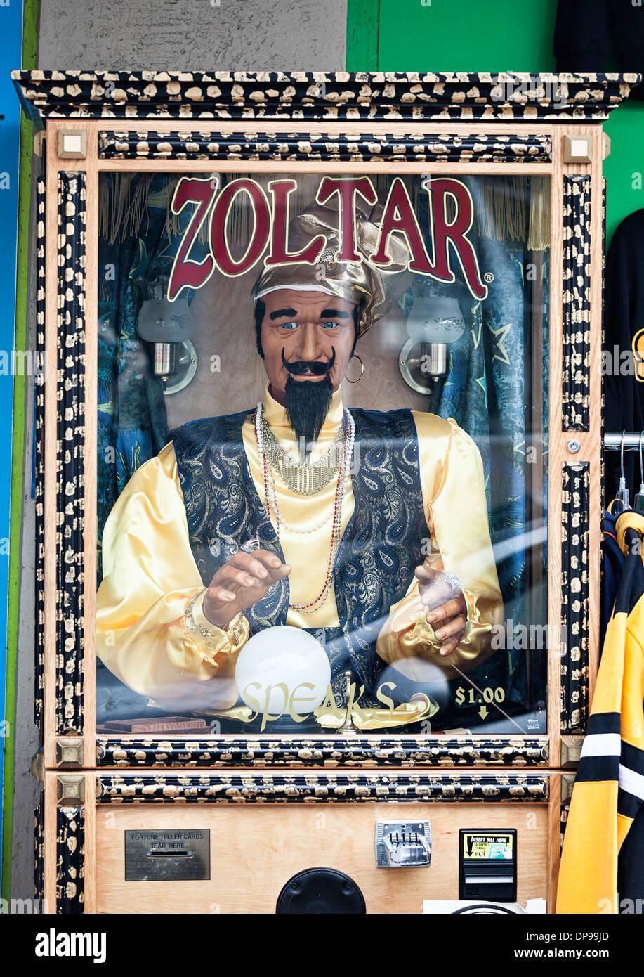 Zoltar, Fortune Teller Maschine Stockbild