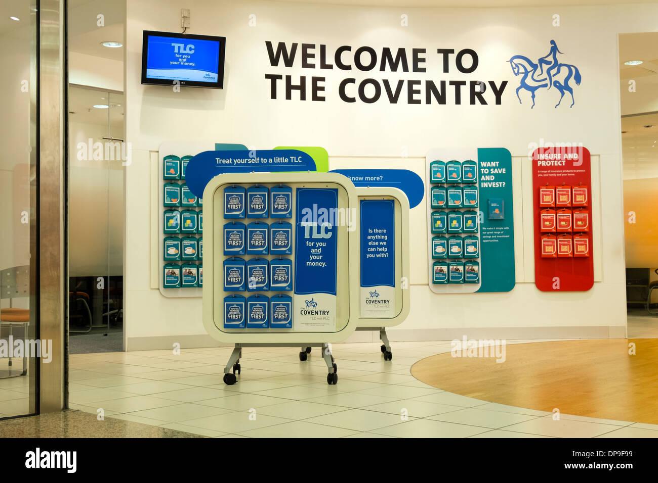 Coventry Bausparkasse bei Merry Hill, UK. Stockbild