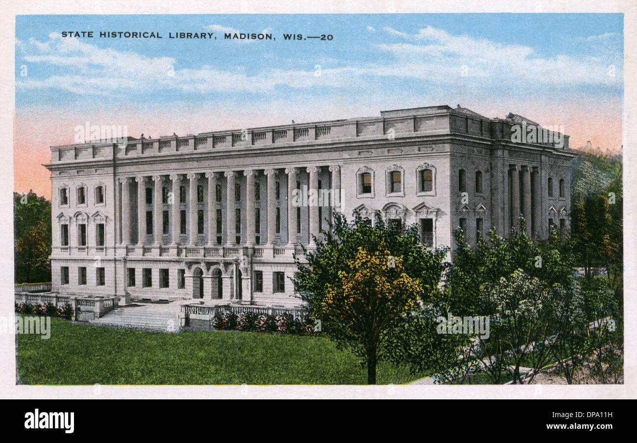 Historische Staatsbibliothek - Madison, Wisconsin Stockbild