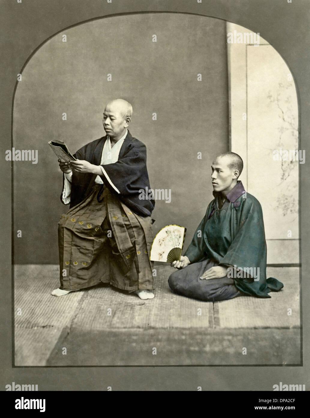 Herr und Knecht, Japan Stockbild