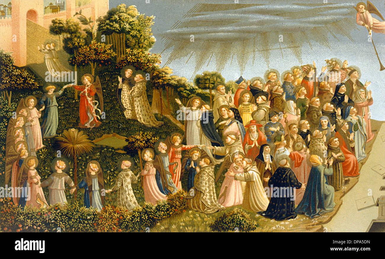 Tag Des Jüngsten Gerichts Angelico Stockfoto Bild 65377361 Alamy