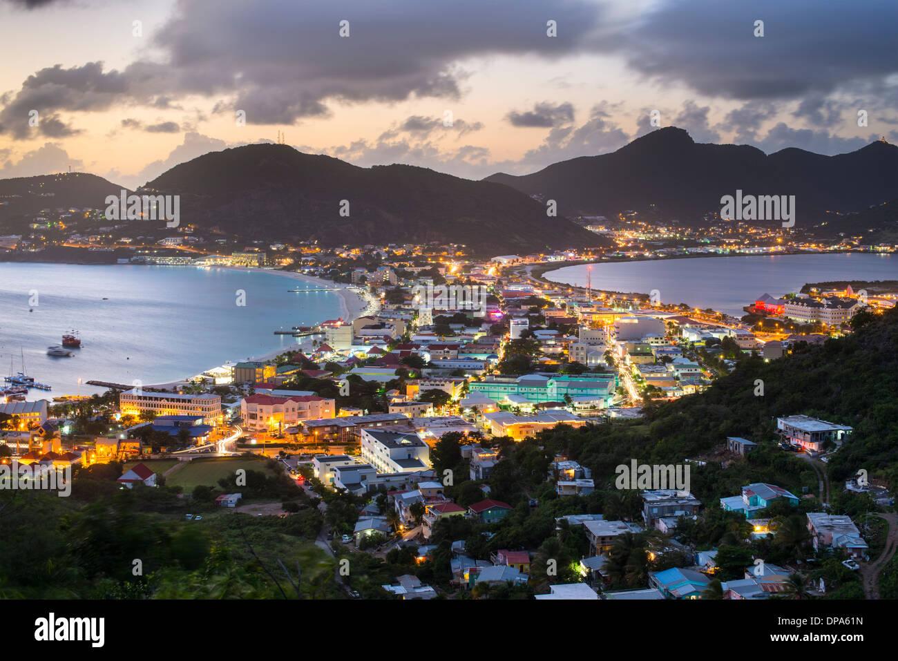 Philipsburg, Sint Maarten in der Karibik. Stockbild