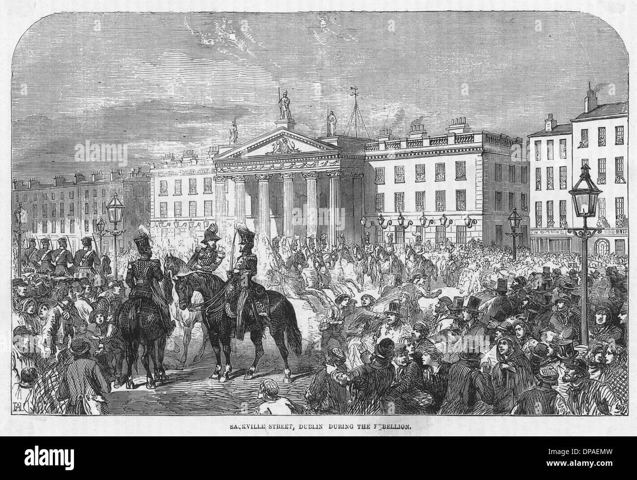 VERANSTALTUNGEN/IRLAND 1848 Stockbild