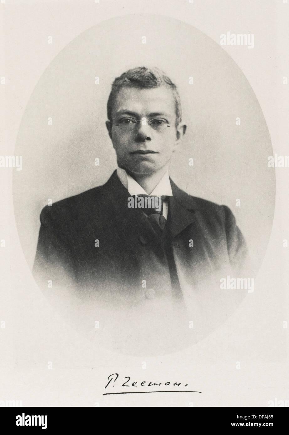 PIETER ZEEMAN/NOBELPREIS 1902 Stockbild