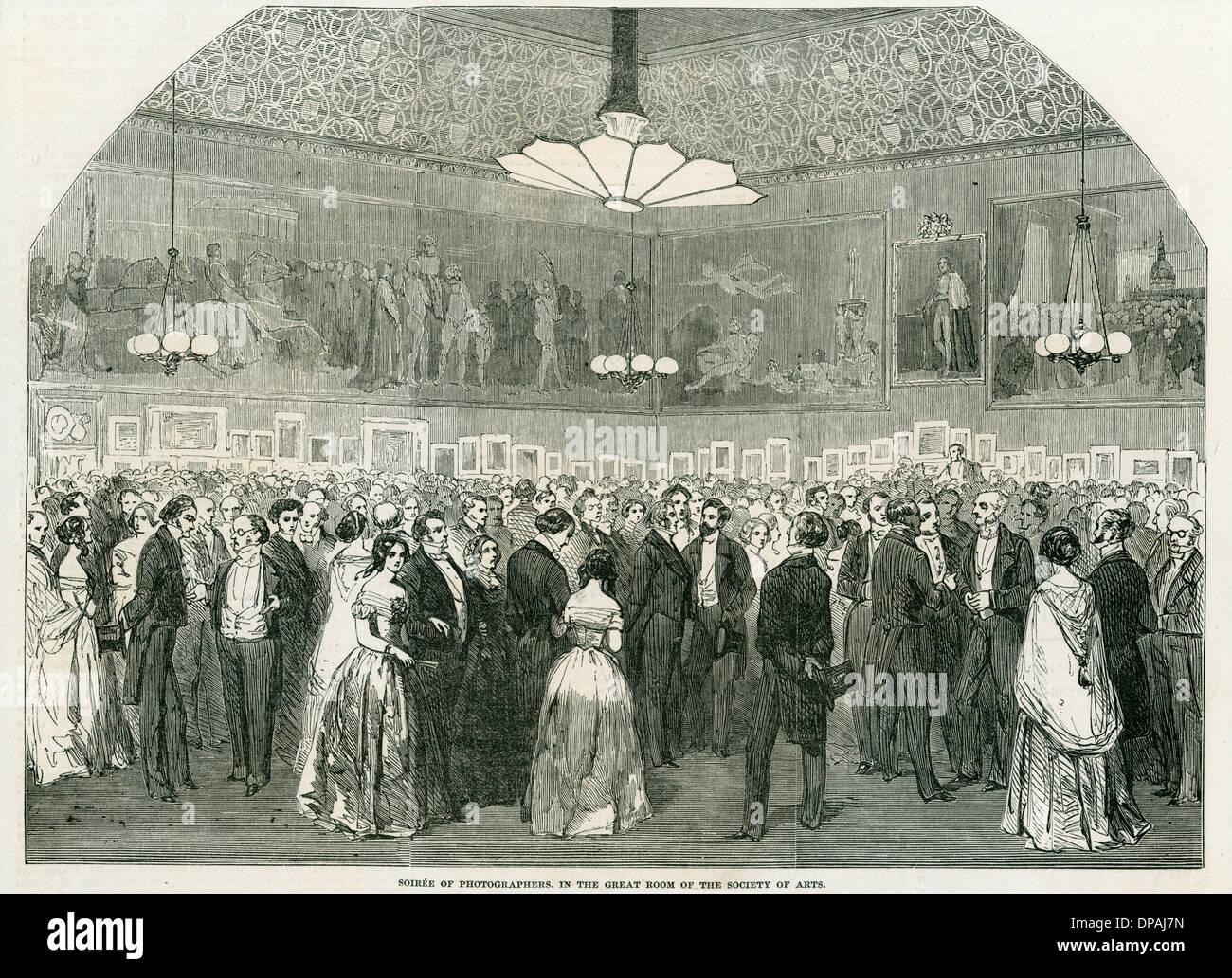 FOTOGRAFISCHE SOIREE 1853 Stockbild