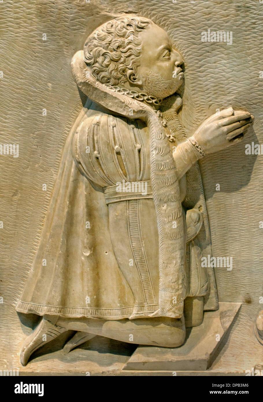 Betende Spender von Votiv oder funerary Denkmal 1570 Augsburger - Augsburg Deutschland Stockbild