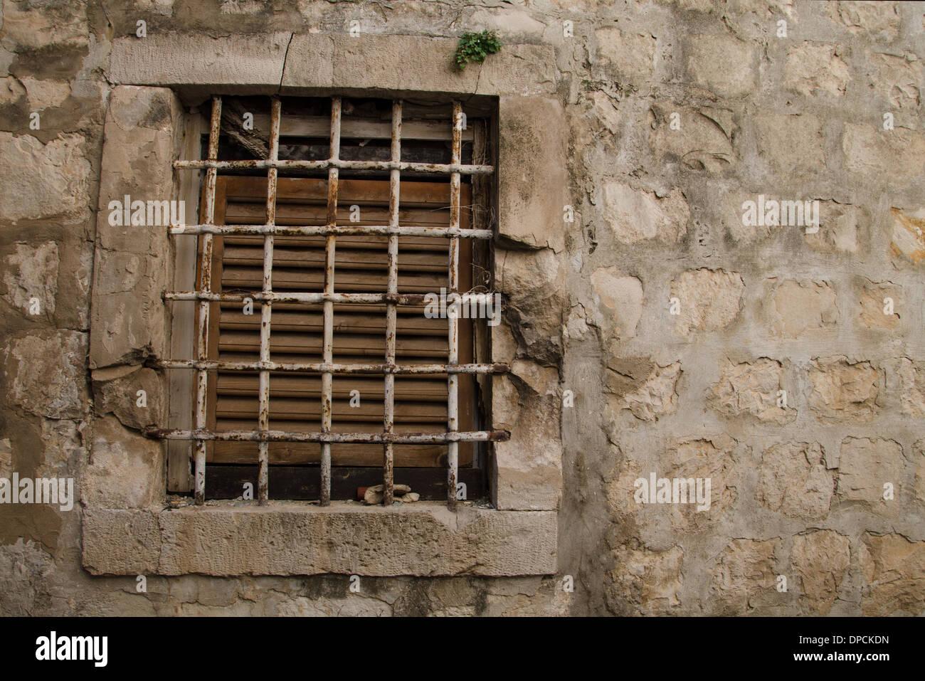 ein schönes altes Fenster. Stockbild