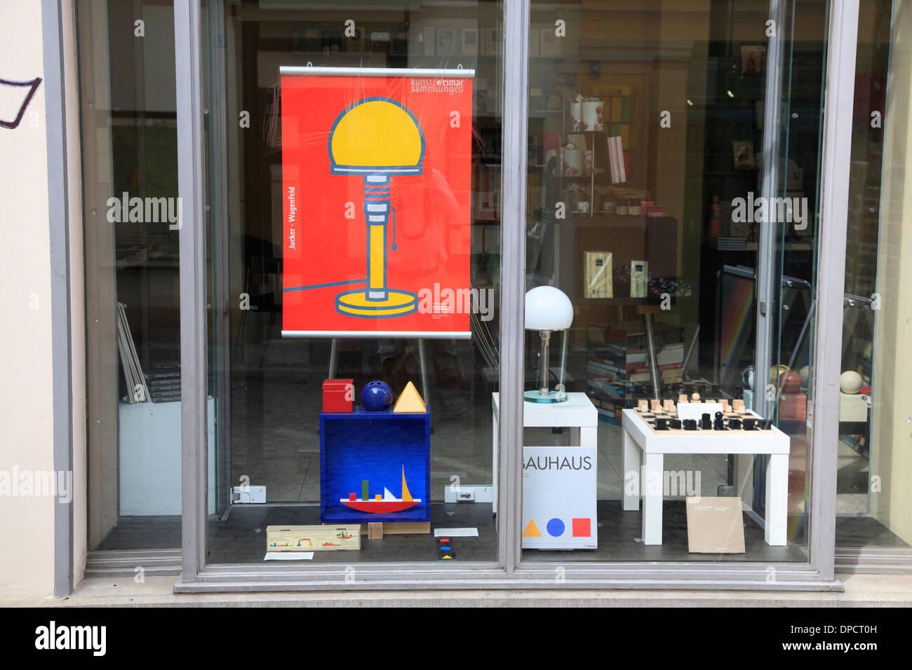 Shop Mit Bauhaus Souvenirs Weimar Thüringen Deutschland Europa