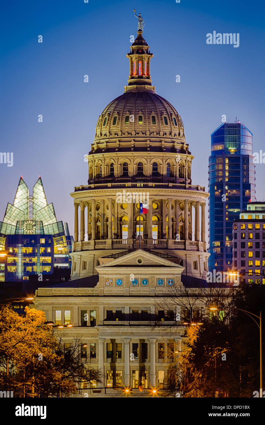 Die Texas State Capitol, in der Innenstadt von Austin, Texas Stockbild