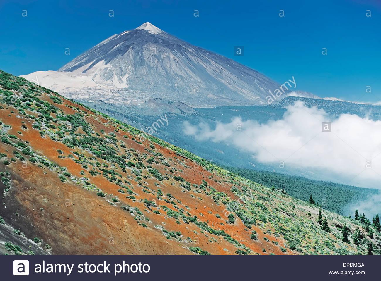 Der Berg Teide, Teneriffa, Kanarische Inseln, Spanien Stockbild