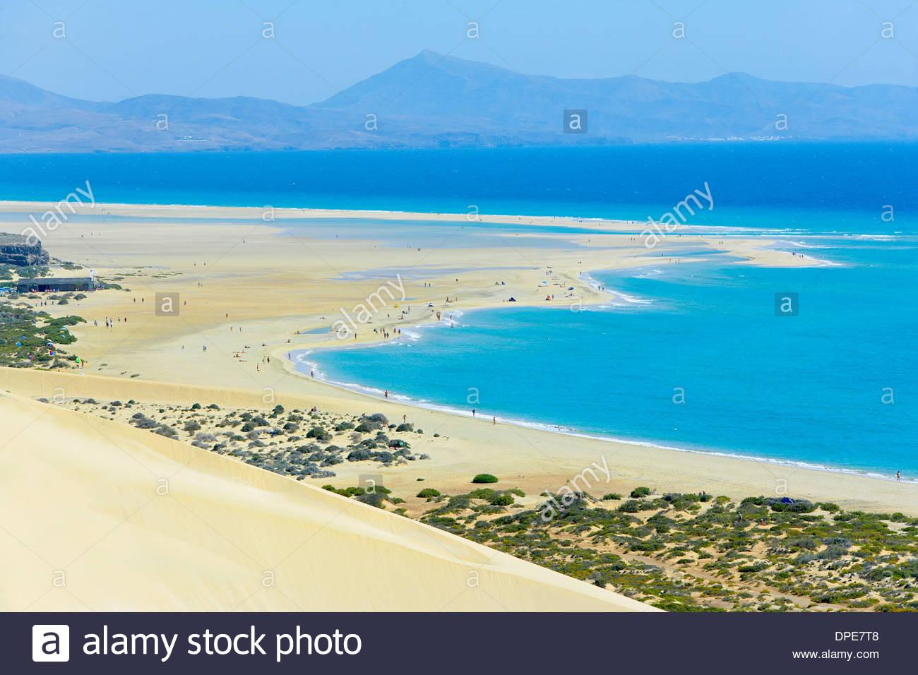 Sotavento Beach, Jandia Peninsula, Fuerteventura, Kanarische Inseln, Spanien Stockbild