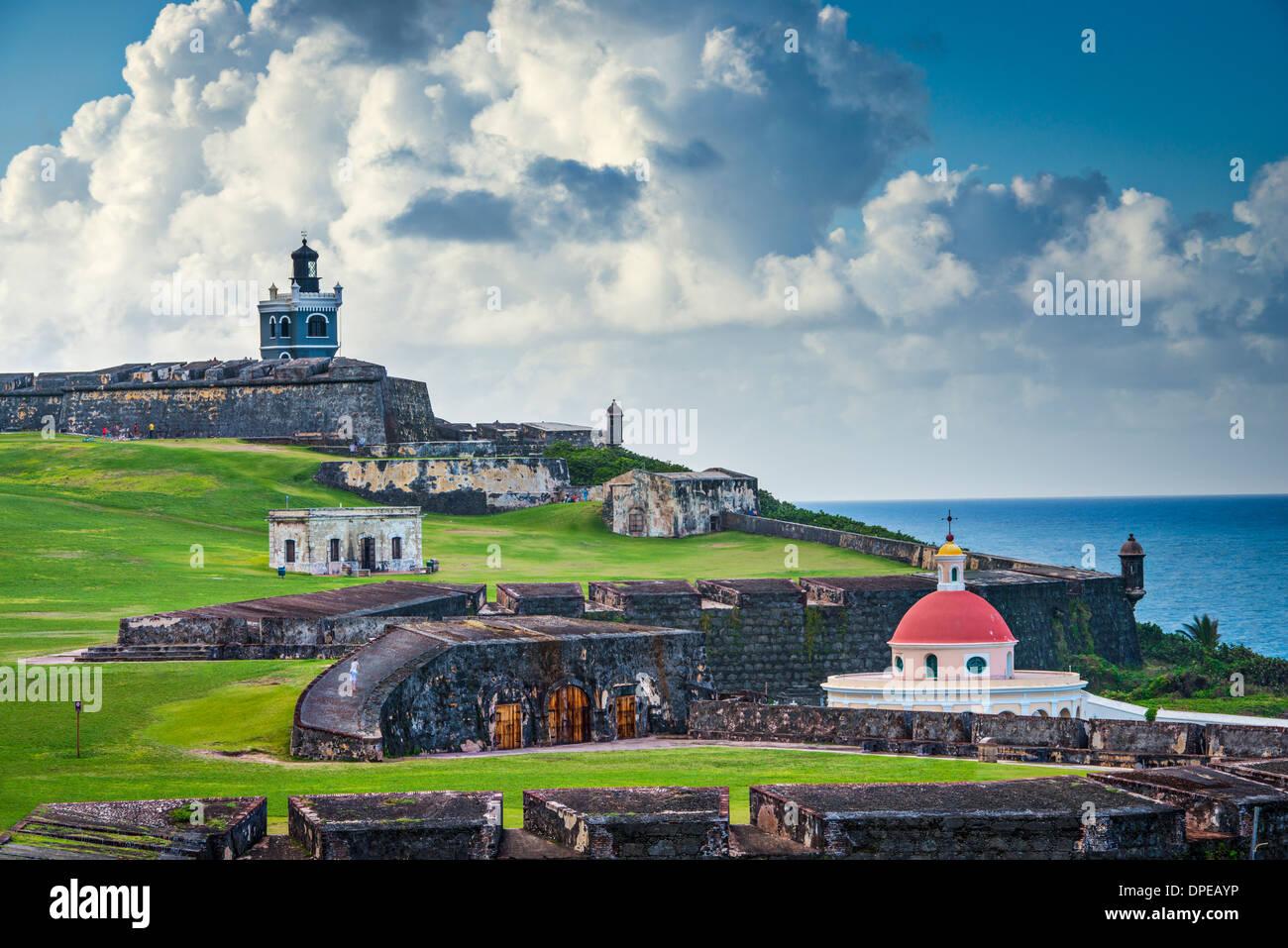 San Juan, Puerto Rico historischen Fort San Felipe Del Morro. Stockbild