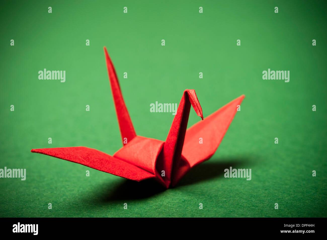 roten Origami Vogel Stockbild