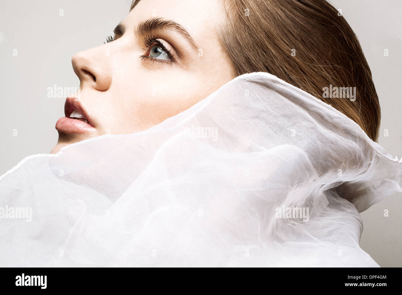 Profil von junge Frau Stockbild