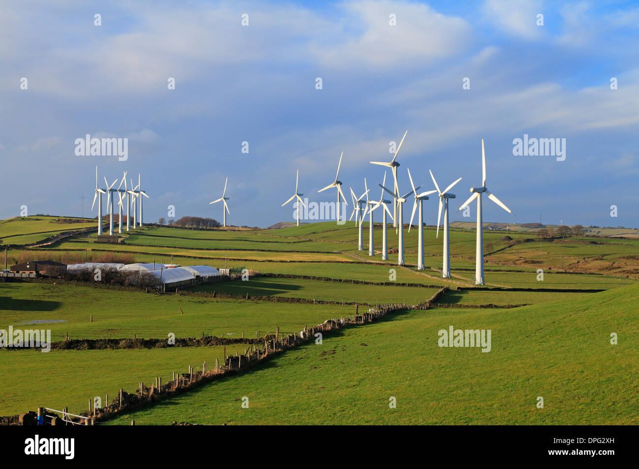 Royd Moor-Windpark in der Nähe von Penistone, South Yorkshire, England, UK. Stockbild