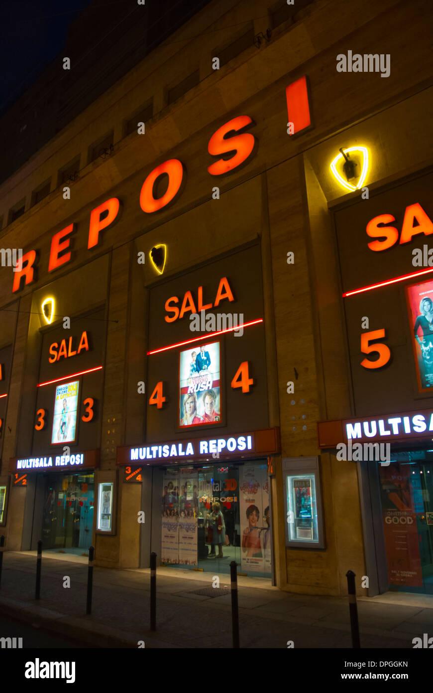 Reposi multiplex-Kino Film Theater Zentrum Turin Piemont Italien Europa Stockbild