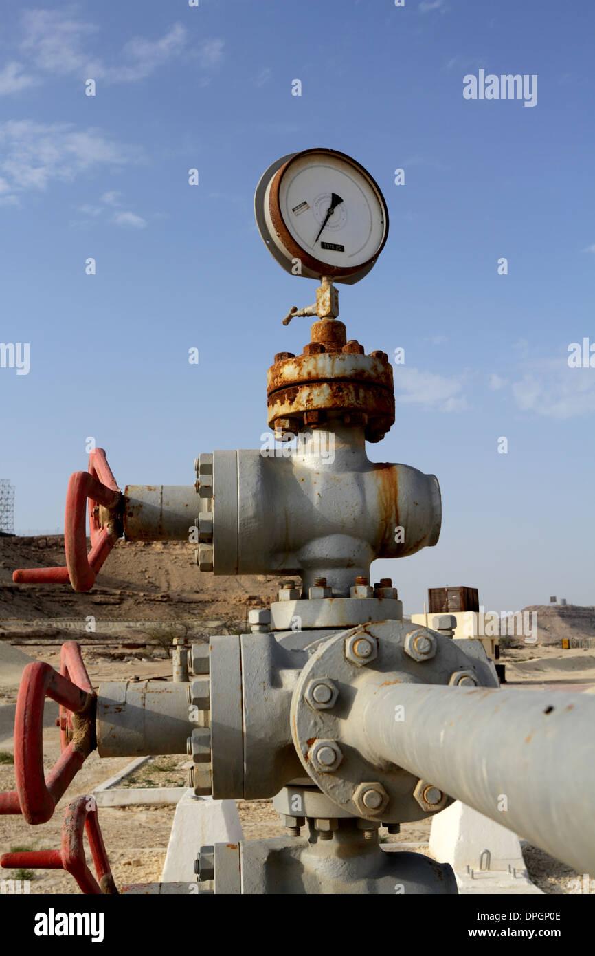 Ölquelle Nummer 1, Bestandteil der Öl-Museum, Bahrain Stockbild
