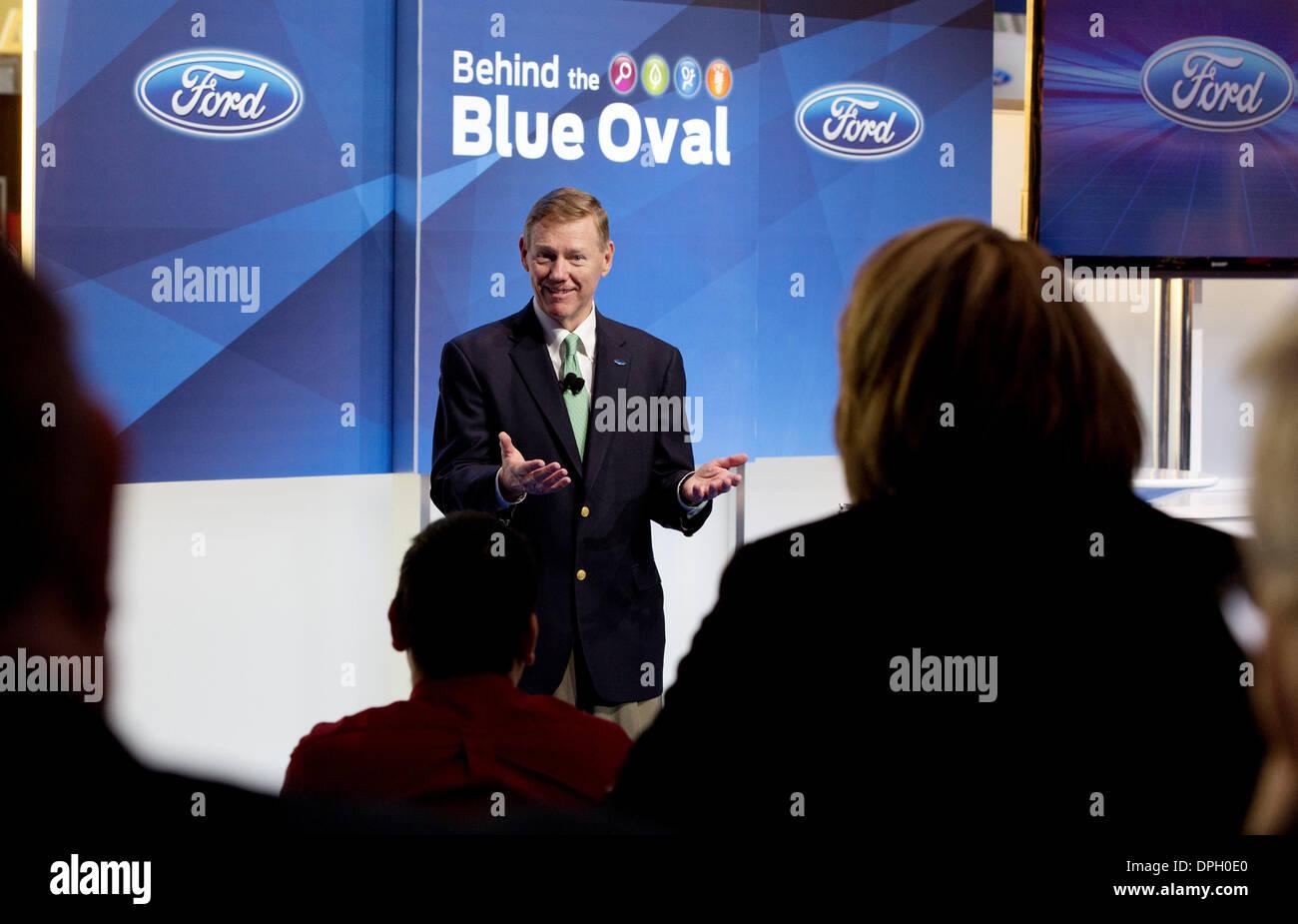 Alan Mulally, ehemaliger Präsident und CEO der Ford Motor Company. NAIAS Stockbild