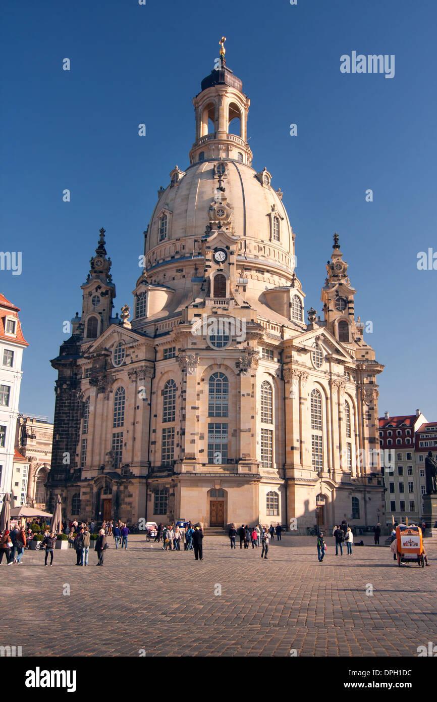 Der Frauenkirche - Dresden - Deutschland Stockbild