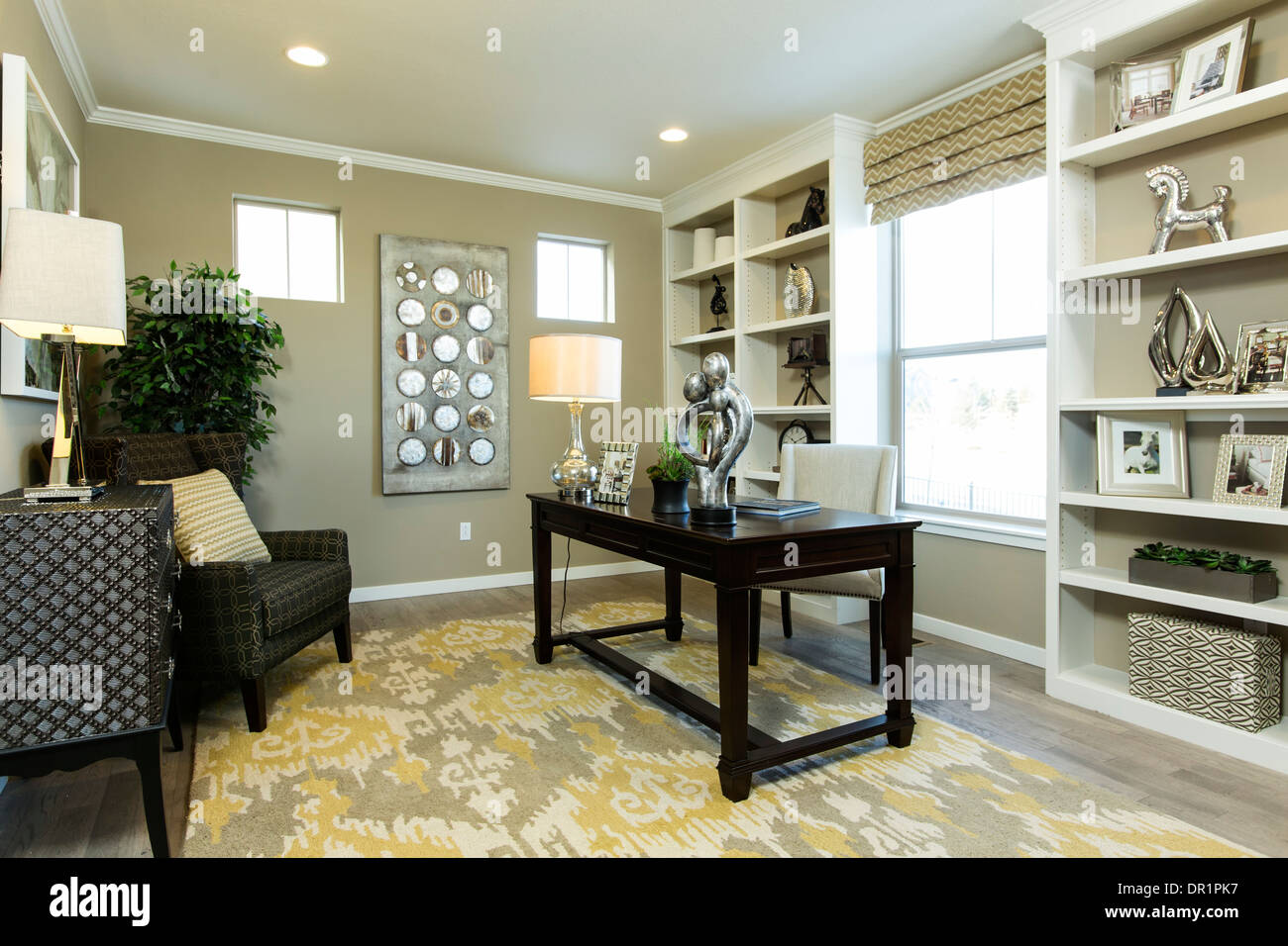 Studie, Dorfhäuser Modell zu Hause, Arvada, Colorado USA Stockbild