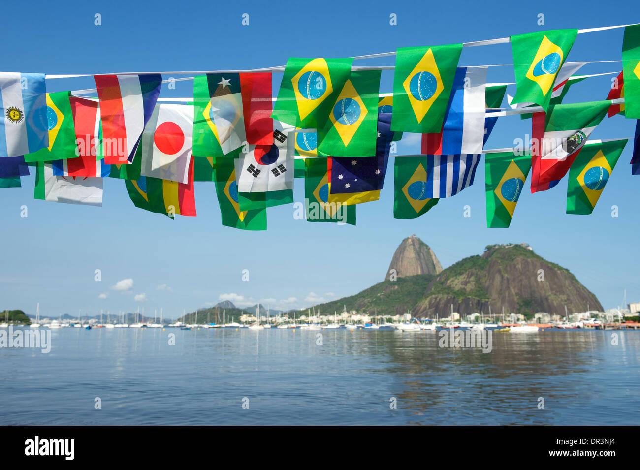 Brasilianische Dekoration brasilianische und internationale fahnen girlande dekoration über