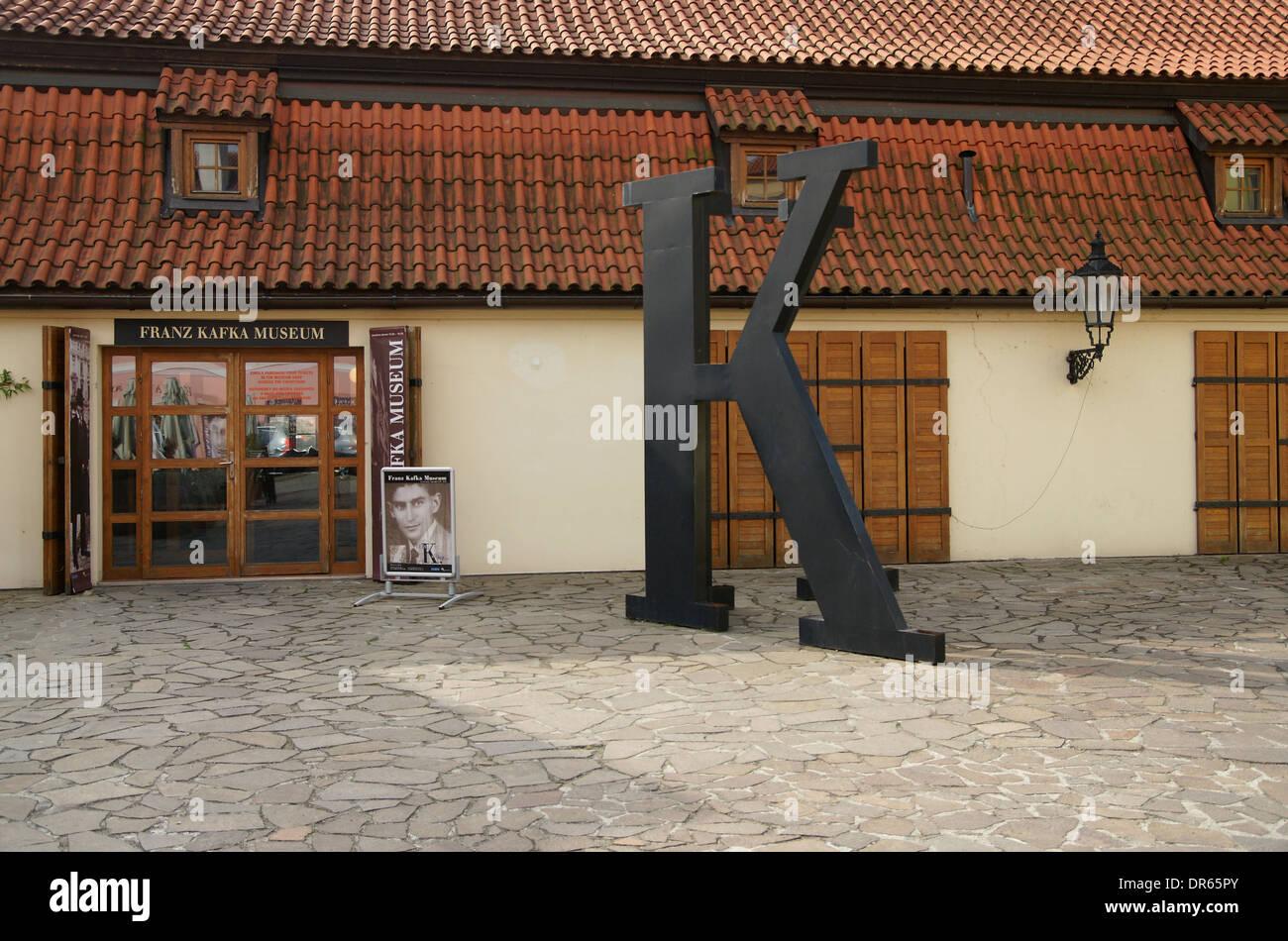 Tschechische Republik. Prag. Franz-Kafka-Museum. (Mala Strana). Stockfoto