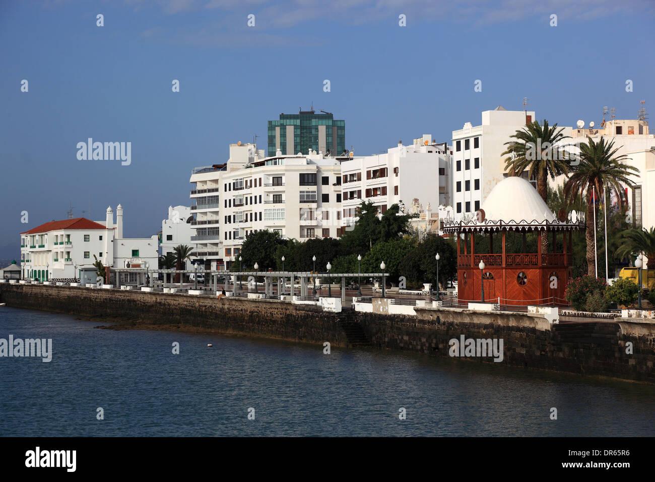Gran Hotel, das einzige High-Rise Gebäude in Arrecife, Lanzarote, Kanarische Inseln, Kanaren, Spanien Stockfoto