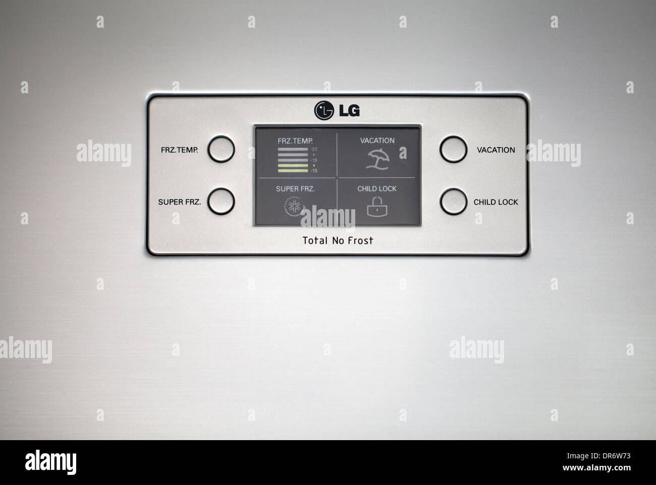Kühlschrank No Frost A : Lg kühlschrank tür control panel stockfoto bild  alamy