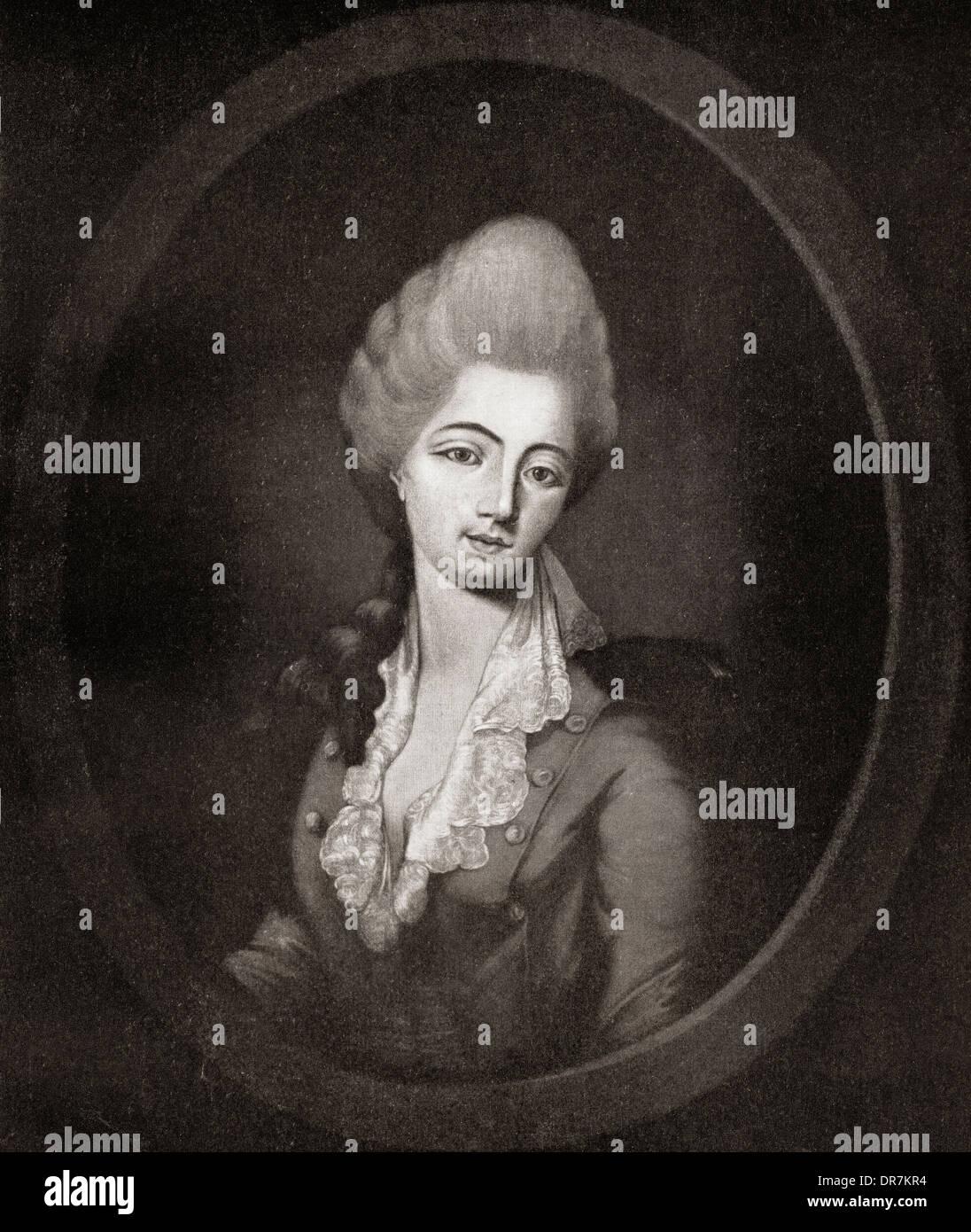 Jeanne Bécu, Comtesse du Barry aka Madame du Barry, 1743 ? 1793. Stockbild