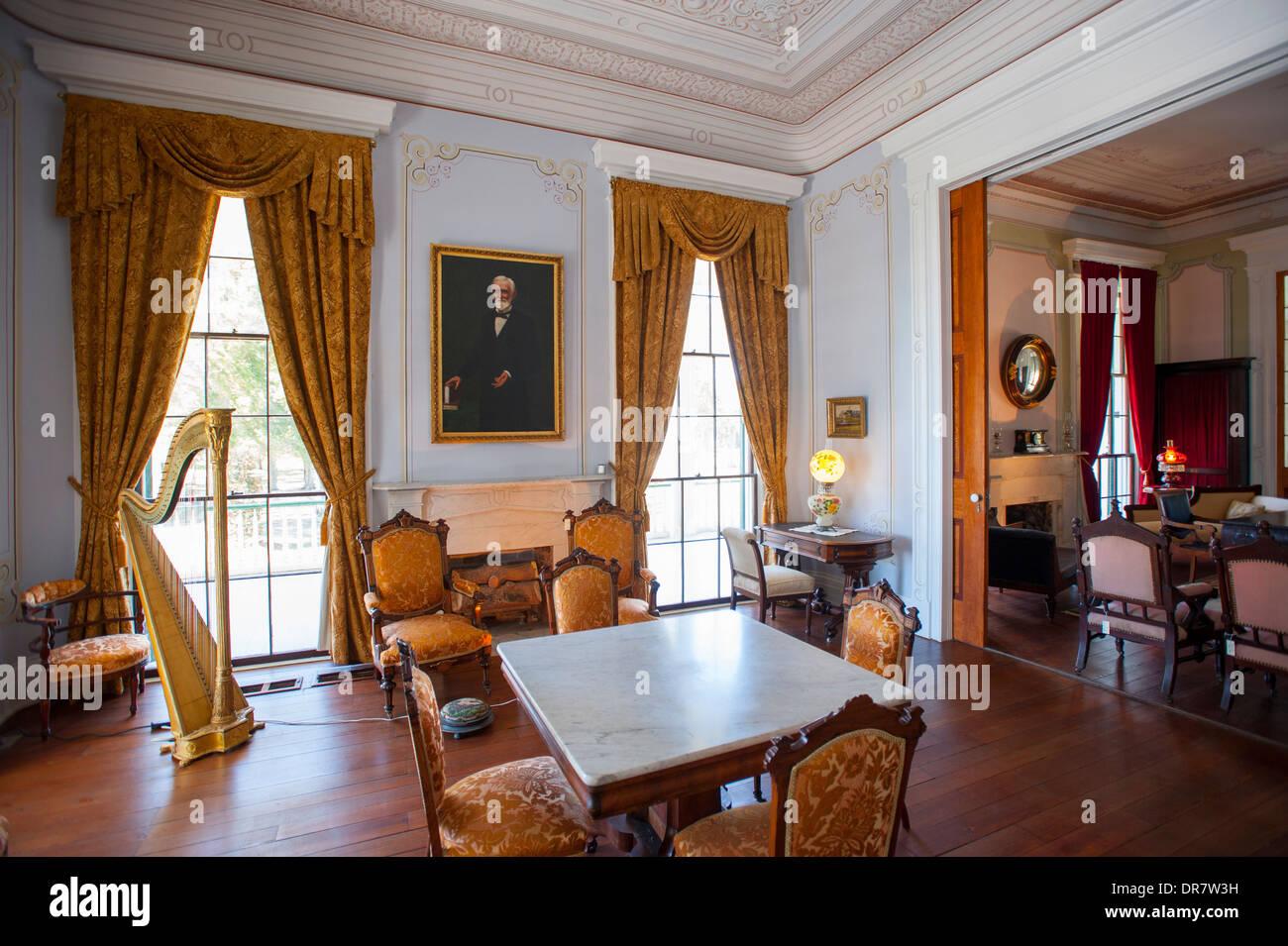 USA-Mississippi MS Biloxi Interieur des Hauses von Jefferson Davis ...