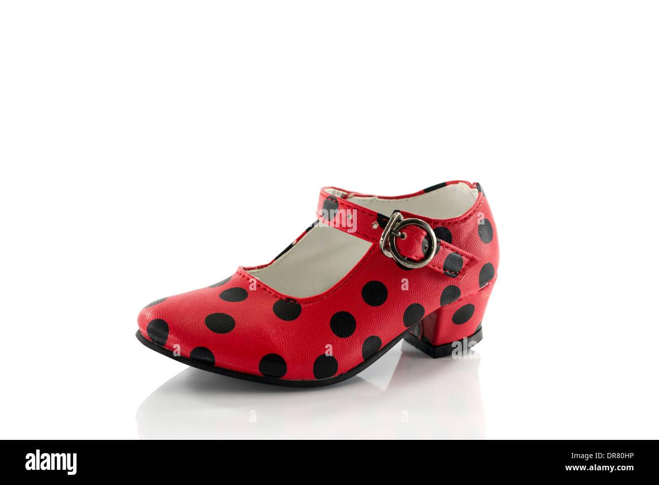 Schuhe Weiss Rote PunktenIsoliert Mit Auf Schwarzen QCshxordtB