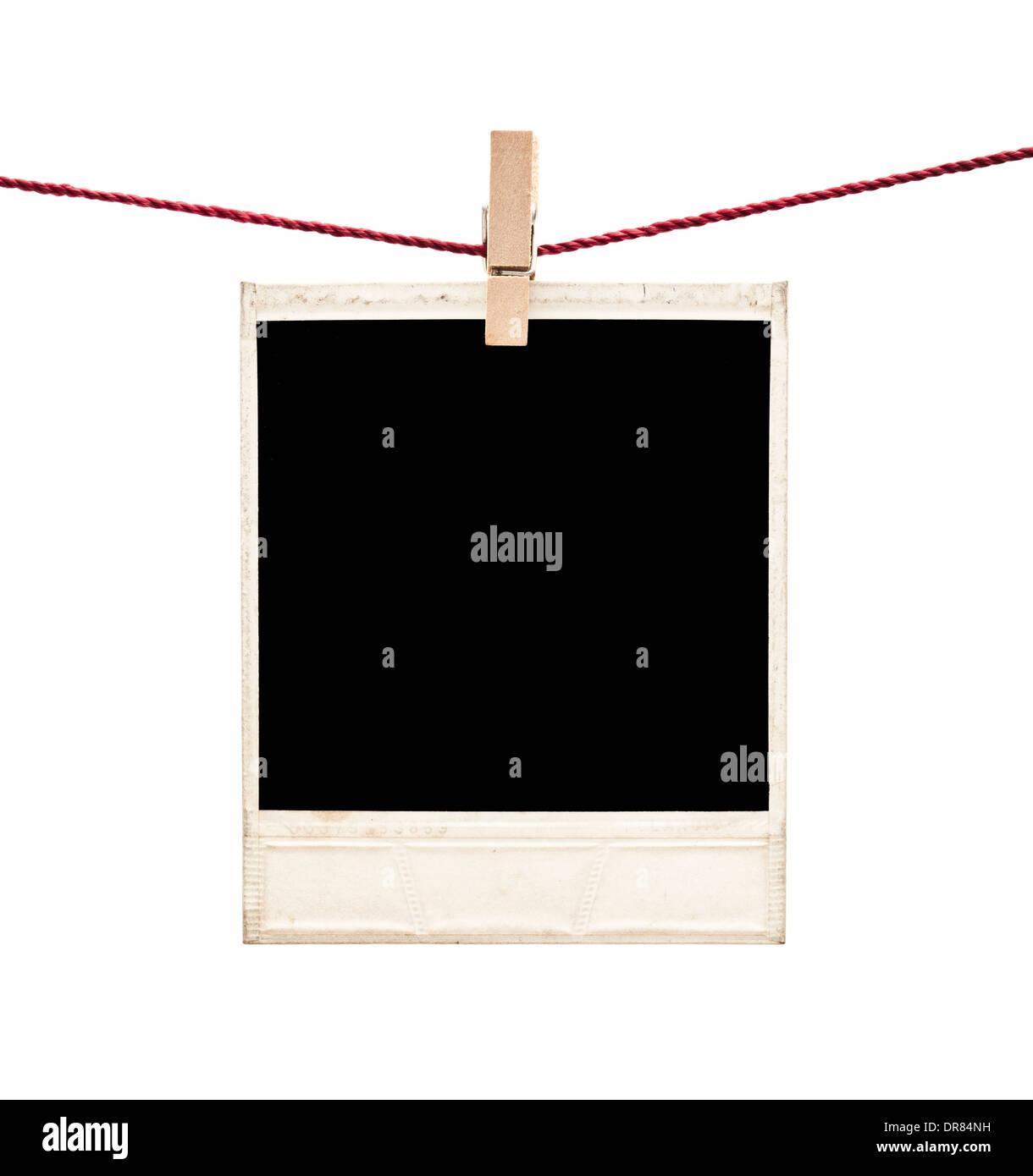 Polaroid Bilderrahmen auf weiß Stockfoto, Bild: 65947549 - Alamy