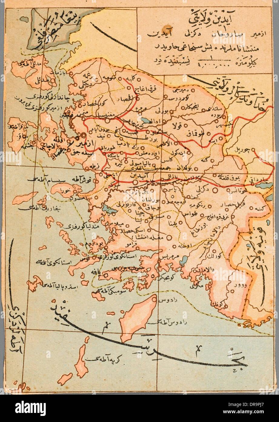Izmir Region Der Turkei Karte Stockfoto Bild 65983519 Alamy