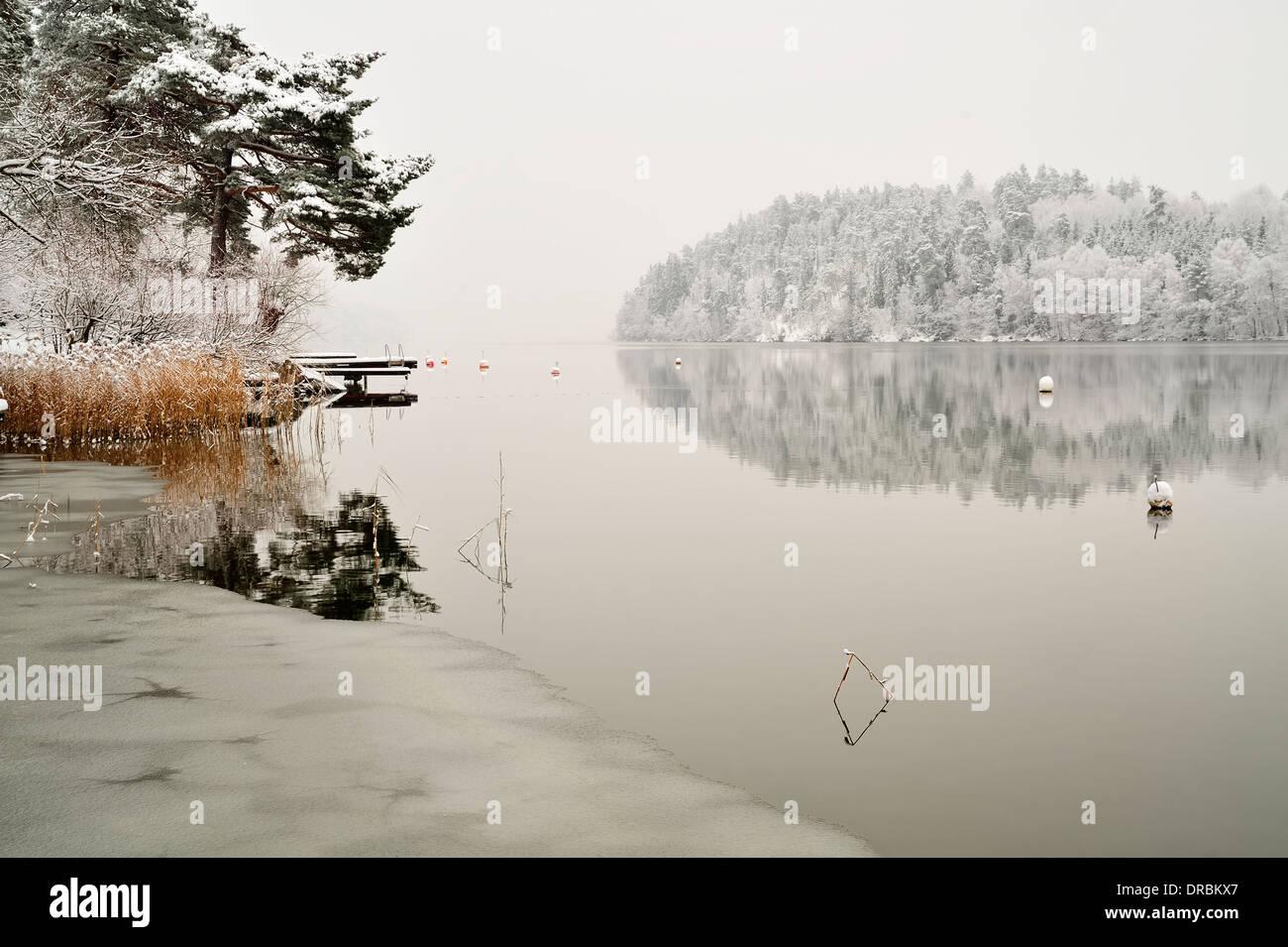 Vintage Winter Wonderland Stockfoto