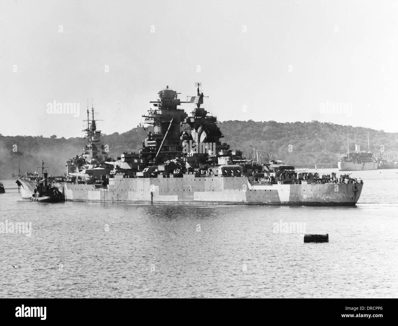 Französische Schlachtschiff WWII Stockbild