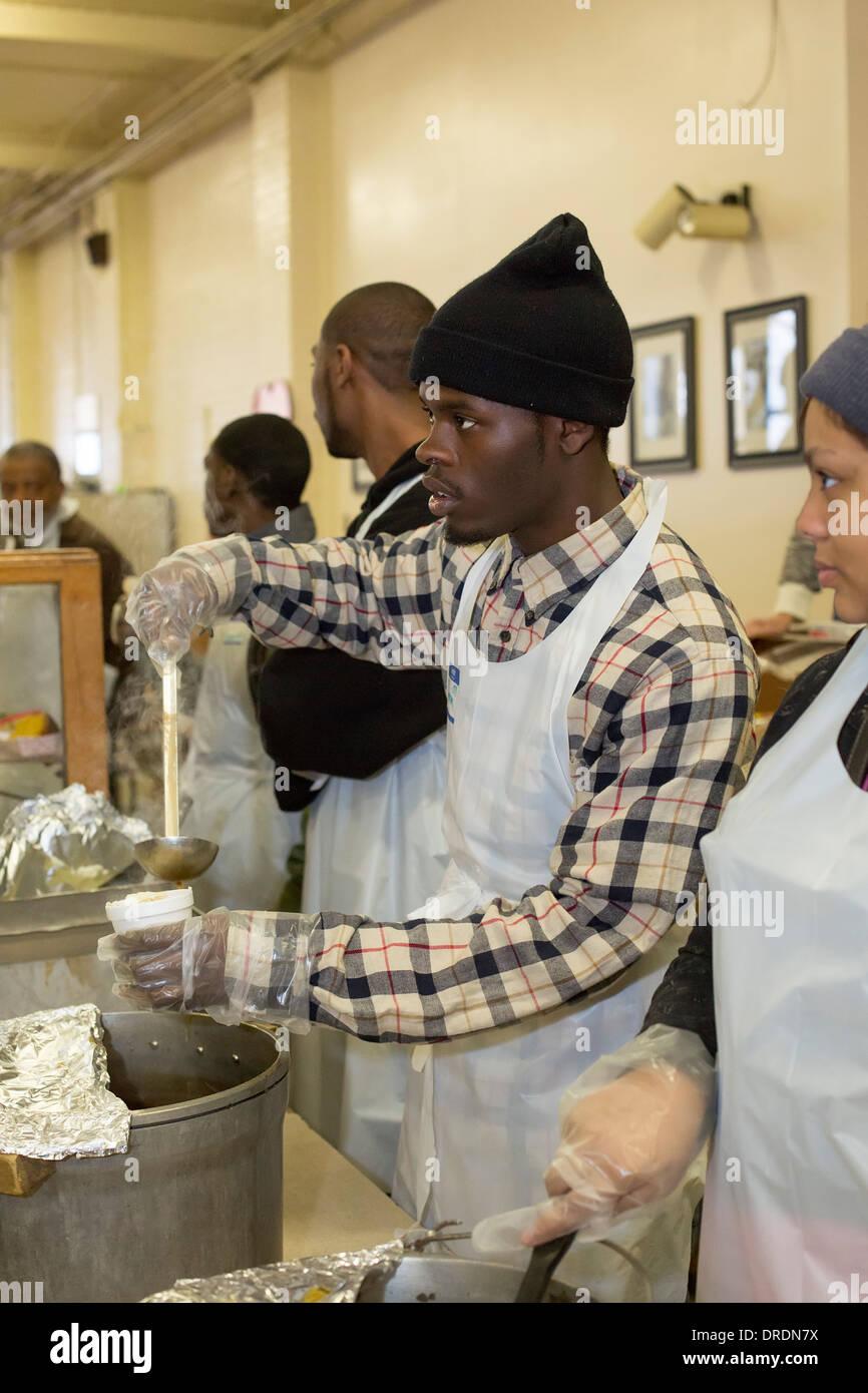 Soup Kitchen Volunteer Stockfotos & Soup Kitchen Volunteer Bilder ...
