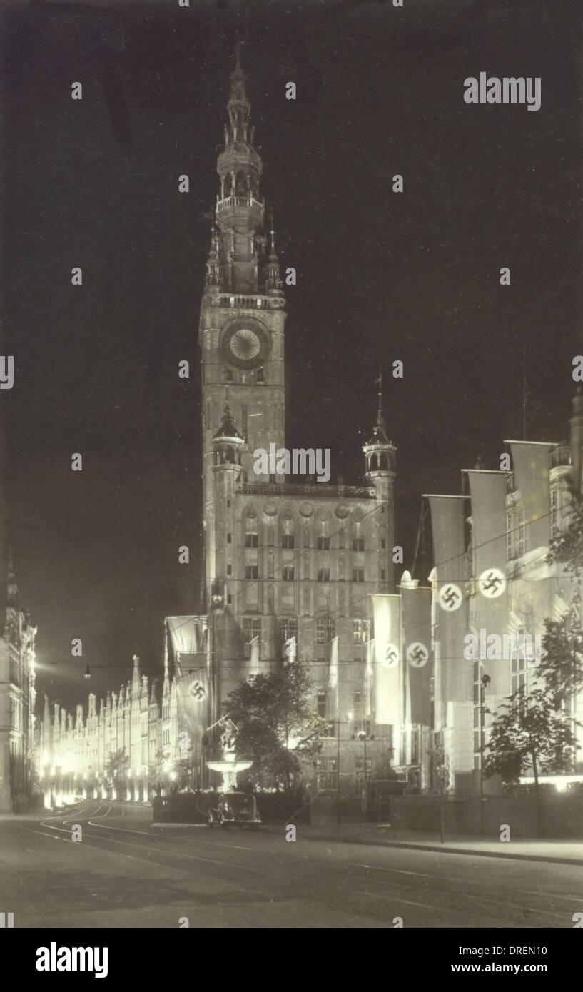 Danzig, Polen unter der Naziherrschaft Stockbild