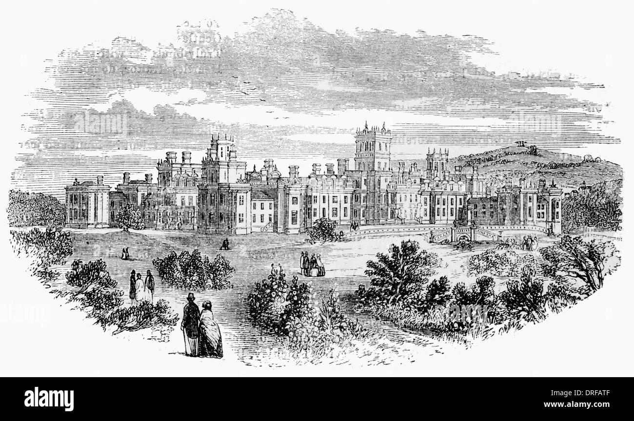 Königliche Earlswood psychiatrisches Krankenhaus in der Nähe von Reigate. Neues Asyl London um 1880 Stockbild