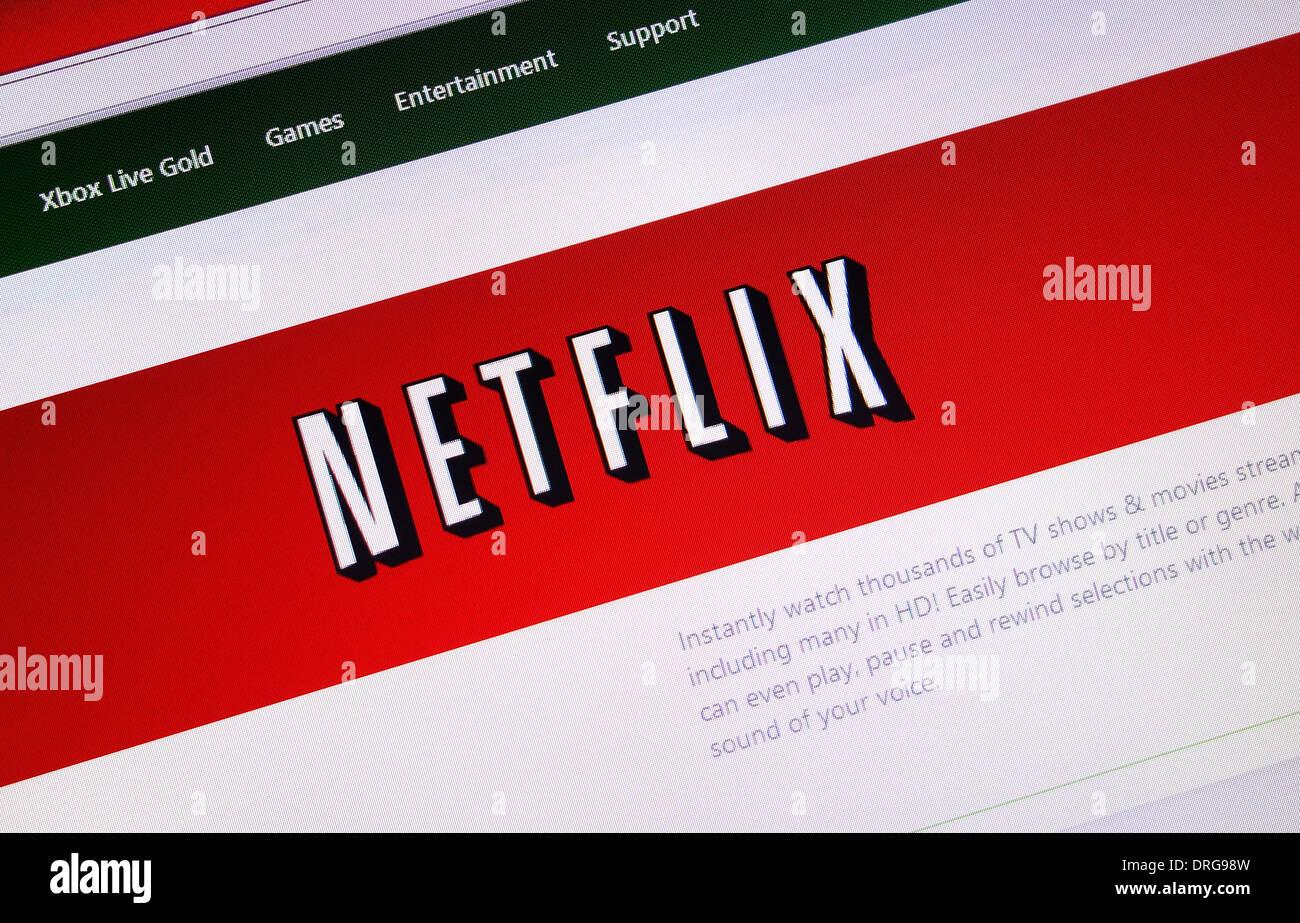 Netflix-website Stockbild
