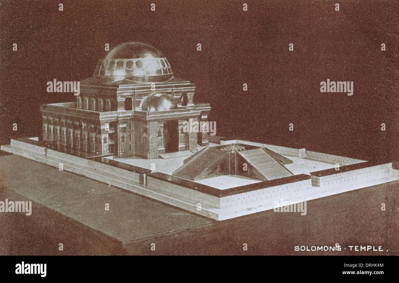 Umbau-Modell des salomonischen Tempels Stockbild