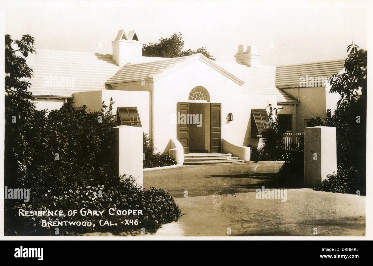 Residenz von Gary Cooper, Brentwood, Kalifornien, USA Stockbild