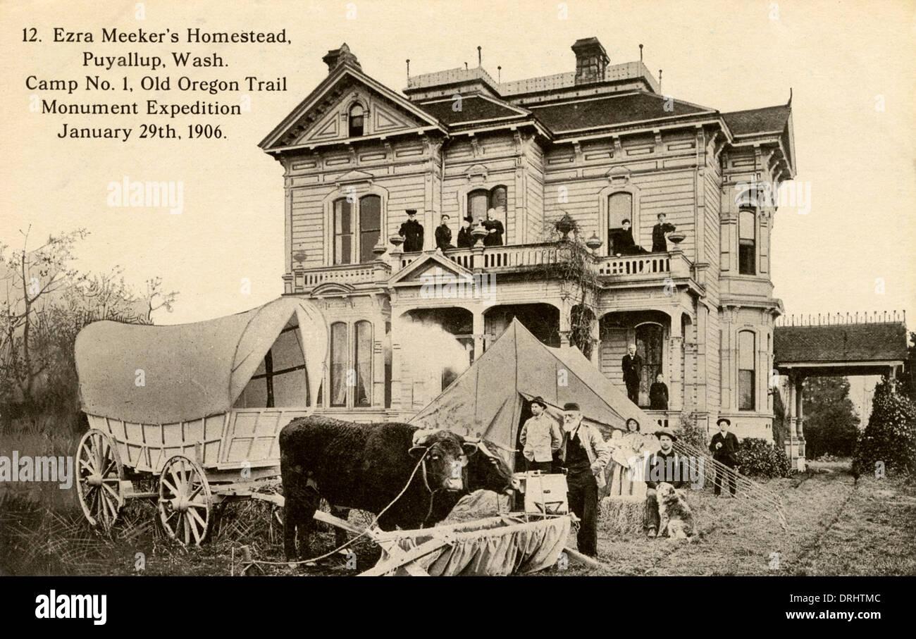 Ezra Meeker der Homestead, Puyallup Stockbild