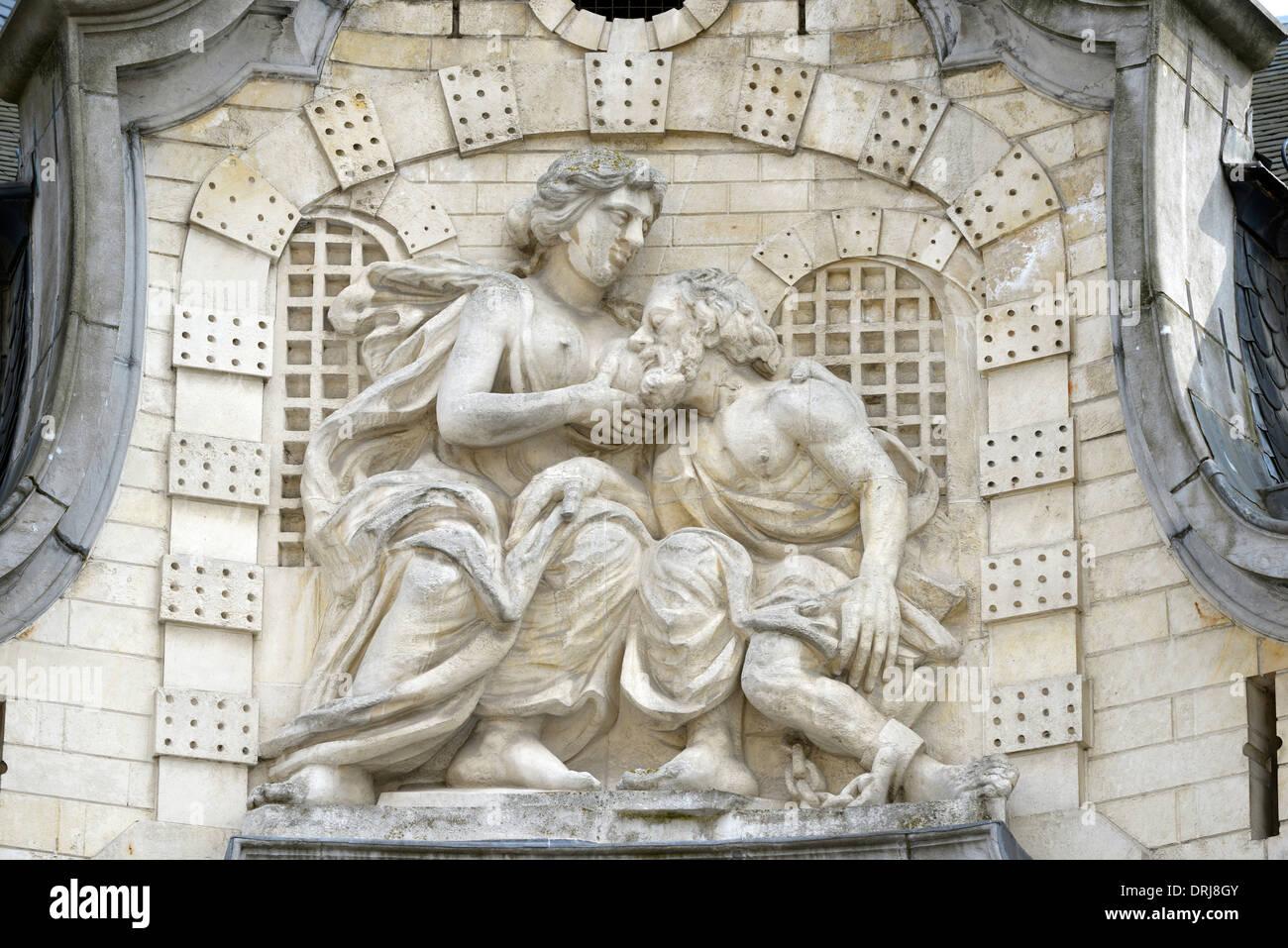 Basrelief der Engel von Gent-gent, Flandern, Belgien, Europa, Basrelief Der Engel von Gent Gent in Flandern, Belgien, Europa Stockbild