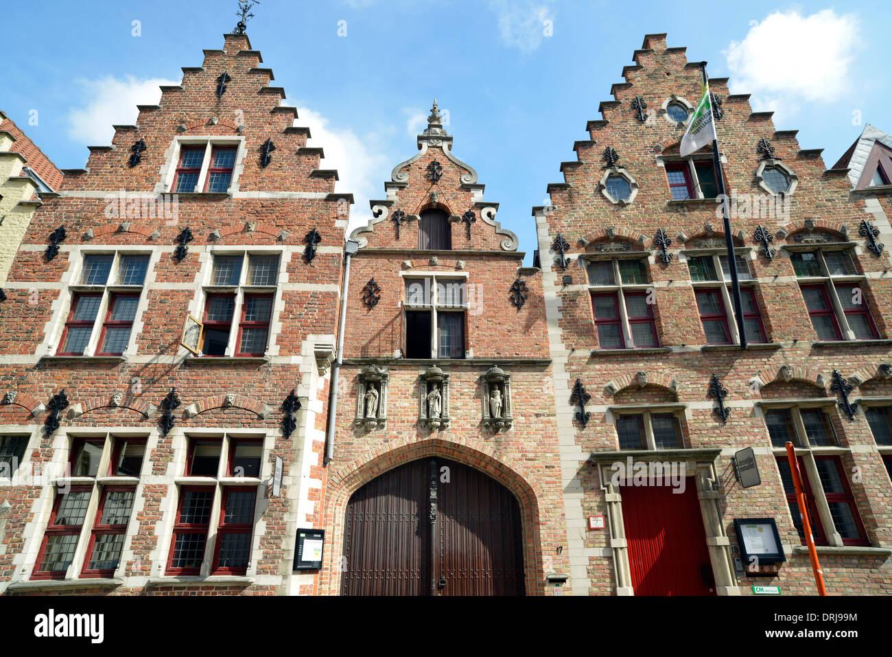 Guild Häuser, Altstadt, UNESCO-Weltkulturerbe Brügge, Flandern, Belgien, Europa, Zunfthäuser, Altstadt, UNESCO Weltkult Stockbild