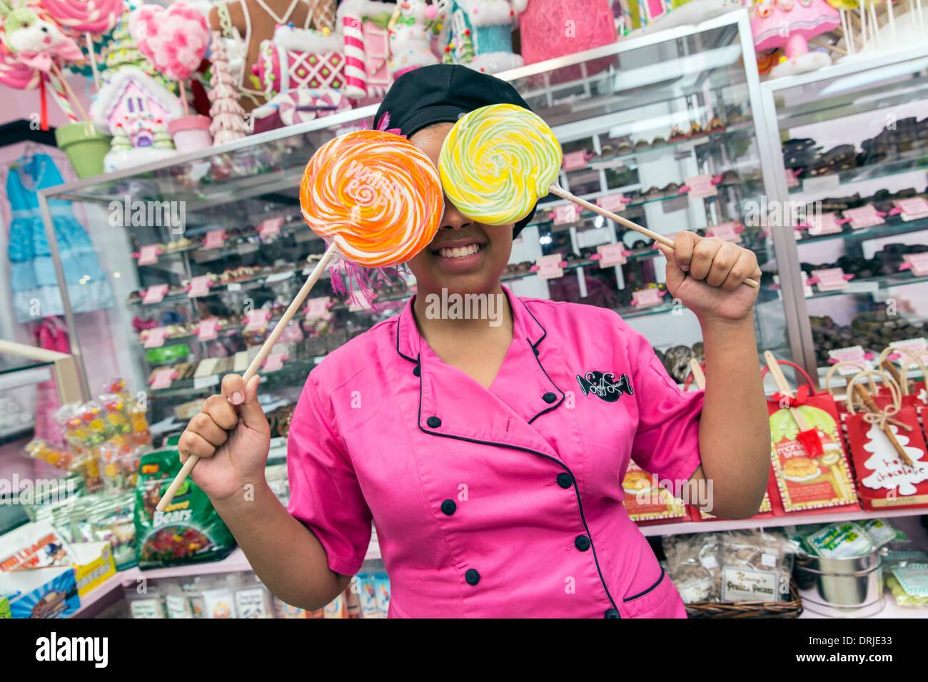 USA, Florida, Punta Gorda, Fischerdorf, einfach Sweet Candy shop Stockbild