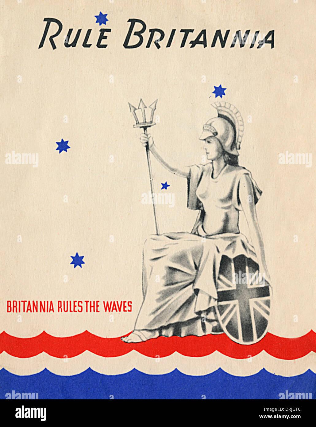 Rule Britannia - Britannia Regeln die Wellen Stockbild