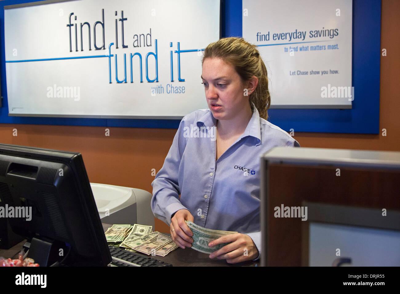 Denver, Colorado - Bankangestellten. Stockbild
