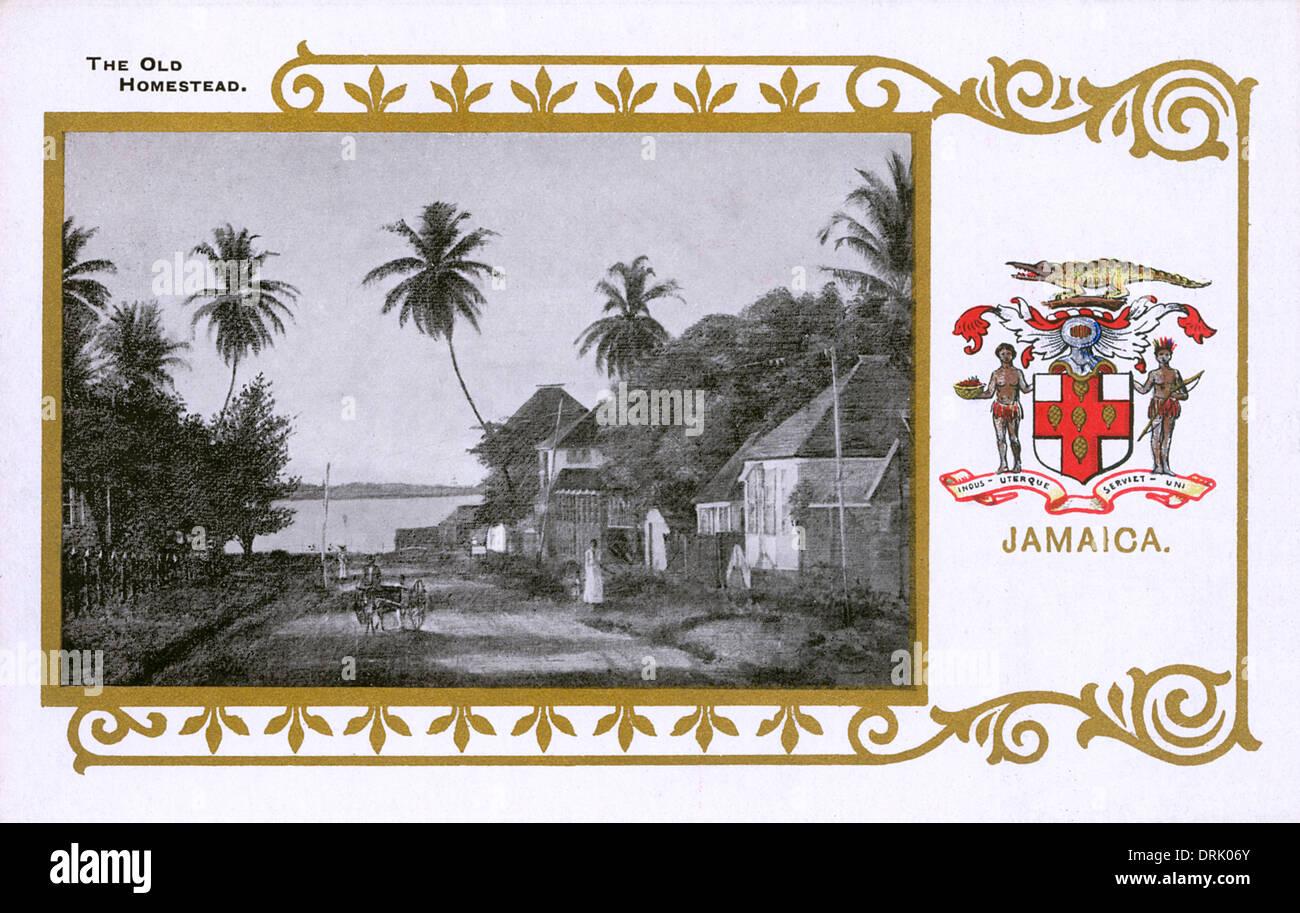 Jamaika - Altes Gehöft Stockbild