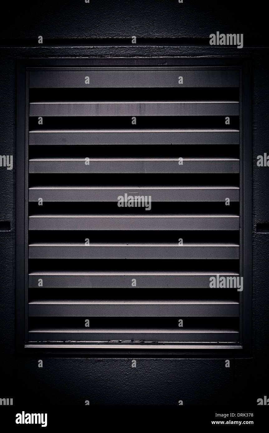 Air Vent schwarz Gitter Stockbild