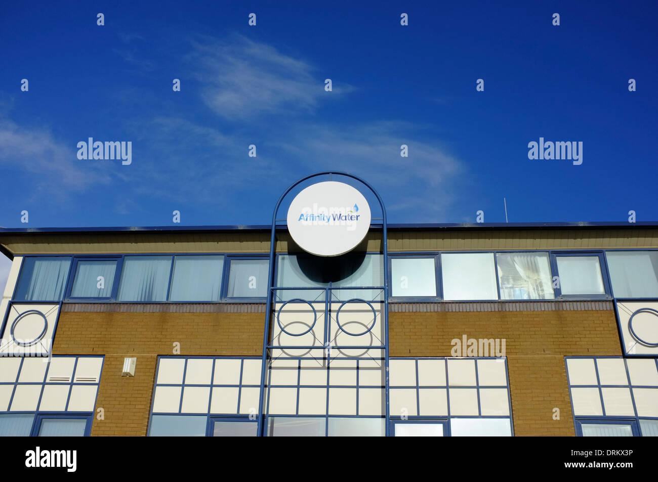 Affinität Wasser Bürogebäude in Luton Stockbild